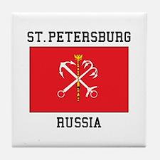 St. Petersburg Flag Tile Coaster