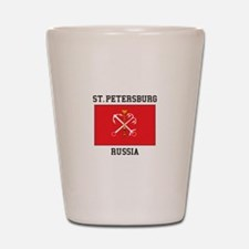 St. Petersburg Flag Shot Glass