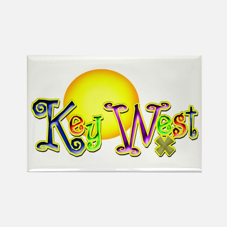 Cute Key west Rectangle Magnet (100 pack)