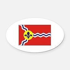 St. Louis Flag Oval Car Magnet