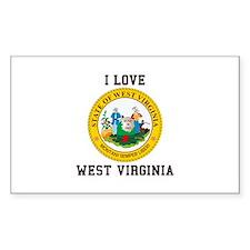 I Love West Verginia Decal