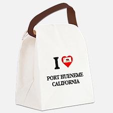 I love Port Hueneme California Canvas Lunch Bag