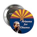 Arizona for Obama State Flag Button
