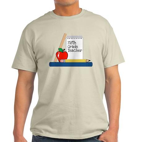 Fifth Grade Teacher (Notebook) Light T-Shirt