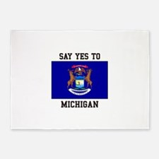 Say Yes to Michigan 5'x7'Area Rug