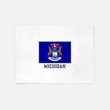 Michigan USA Flag 5'x7'Area Rug