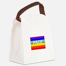Rainbow Peace Flag Canvas Lunch Bag