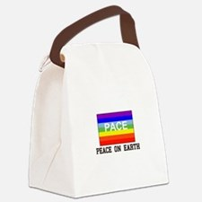 Peace on Earth Canvas Lunch Bag