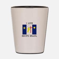 I Love Recife, Brazil Shot Glass