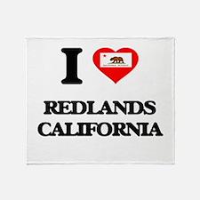 I love Redlands California Throw Blanket
