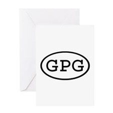 GPG Oval Greeting Card