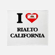 I love Rialto California Throw Blanket