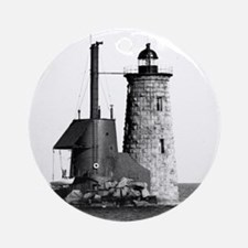 Whaleback Lighthouse Ornament (Round)