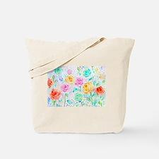 Watercolor Ranunculus Flower Pattern Tote Bag