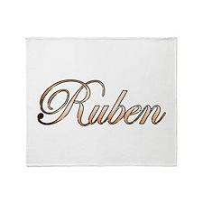 Gold Ruben Throw Blanket