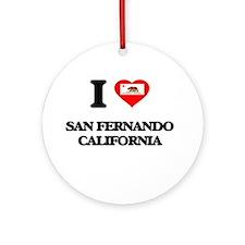 I love San Fernando California Ornament (Round)