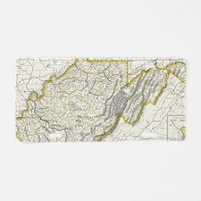 Vintage Map of West Virgini Aluminum License Plate