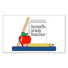 Seventh Grade Teacher (Notebook) Sticker (Rectangu