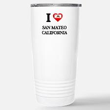 I love San Mateo Califo Travel Mug