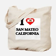 I love San Mateo California Tote Bag