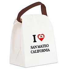 I love San Mateo California Canvas Lunch Bag