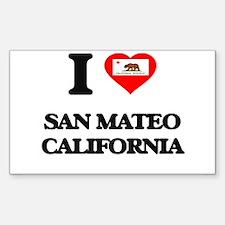 I love San Mateo California Decal