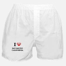 I love San Mateo California Boxer Shorts