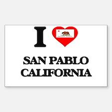 I love San Pablo California Decal
