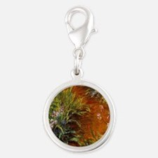 Monet - Path through the Irise Silver Round Charm