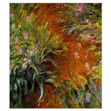 Monet - Path through the Irises Poster