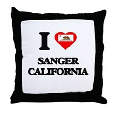 I love Sanger California Throw Pillow