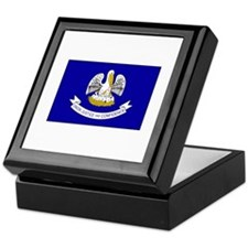 Louisiana Flag Keepsake Box