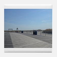 Atlantic City Boardwalk and Dunes Tile Coaster