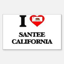 I love Santee California Decal