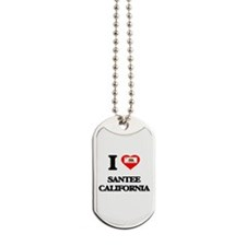 I love Santee California Dog Tags