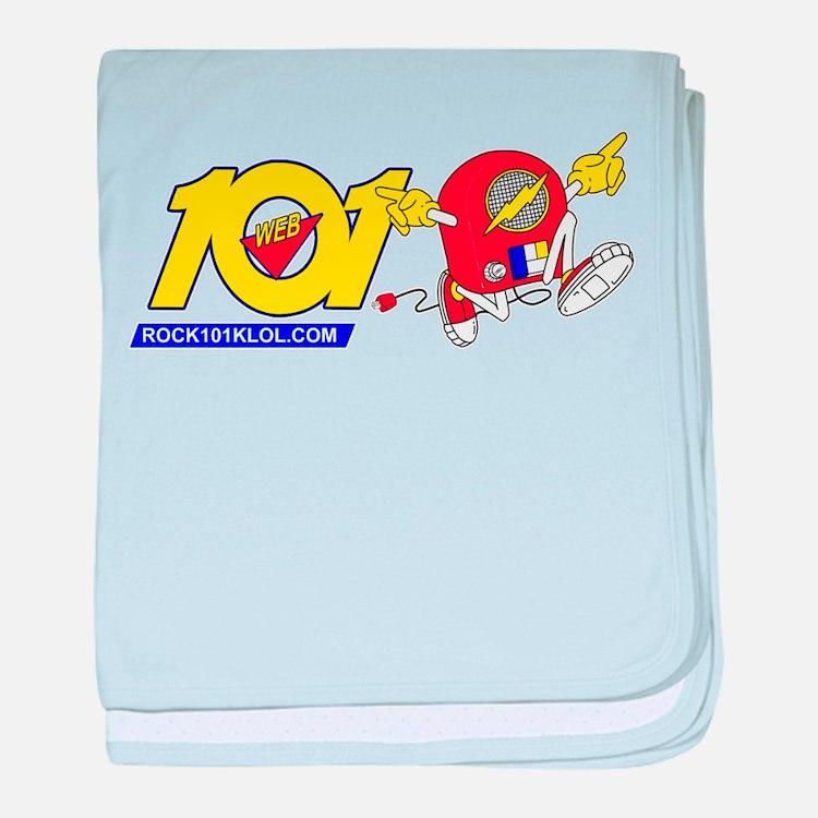 101 Runaway Radio H baby blanket