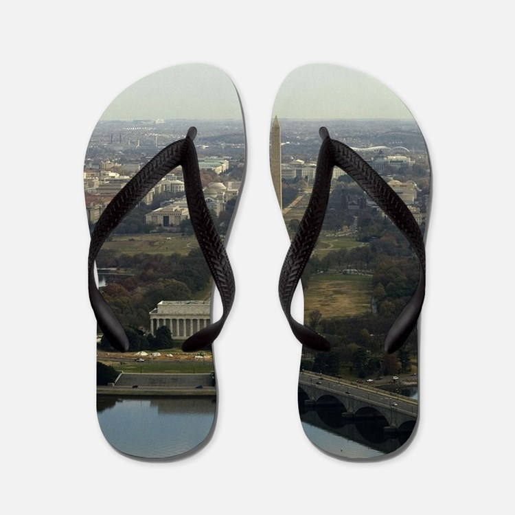 Washington DC Aerial Photograph Flip Flops