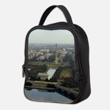 Washington DC Aerial Photograph Neoprene Lunch Bag
