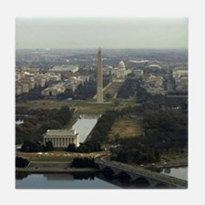 Washington DC Aerial Photograph Tile Coaster