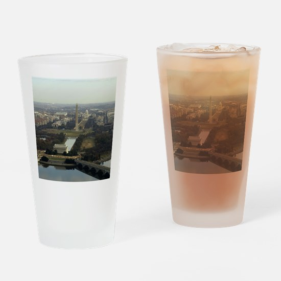 Washington DC Aerial Photograph Drinking Glass