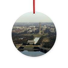 Washington DC Aerial Photograph Ornament (Round)
