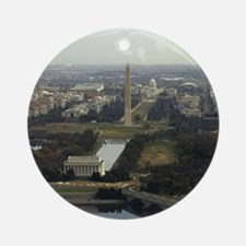 Washington DC Aerial Photograph Ornament (Round)