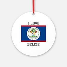 I love Belize Ornament (Round)