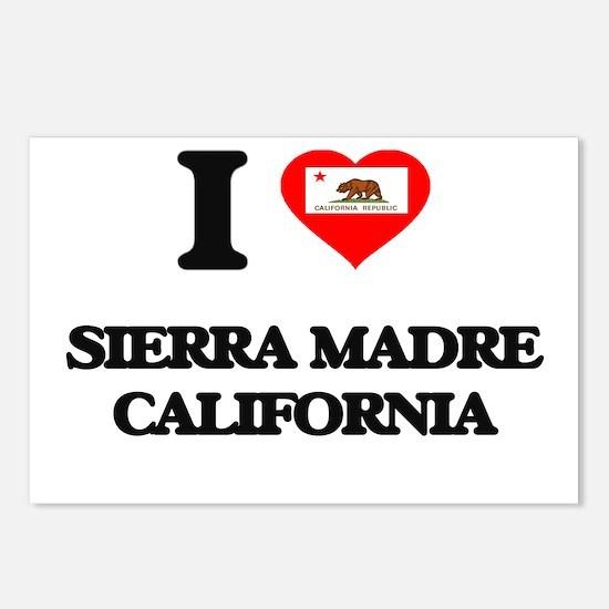 I love Sierra Madre Calif Postcards (Package of 8)