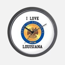 I Love Louisiana Wall Clock