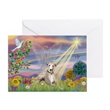 Cloud Angel & Whippet Greeting Card