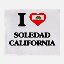 I love Soledad California Throw Blanket