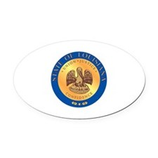 Louisiana State Seal Oval Car Magnet