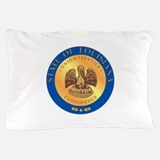 Louisiana State Seal Pillow Case