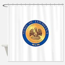 Louisiana State Seal Shower Curtain